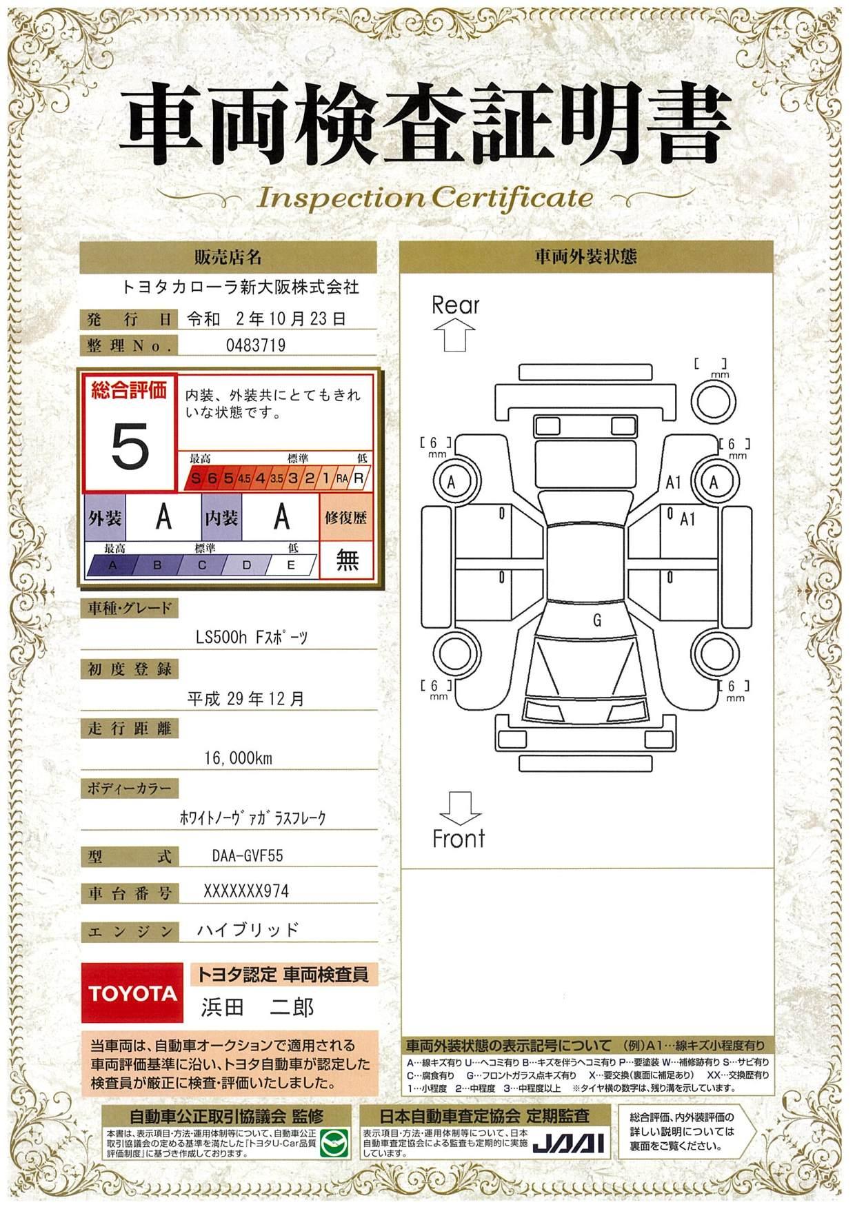 車両 品質 評価 書