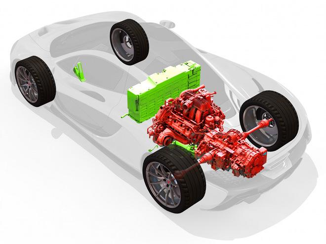 パワートレインは3.8Lツインターボ+モーター