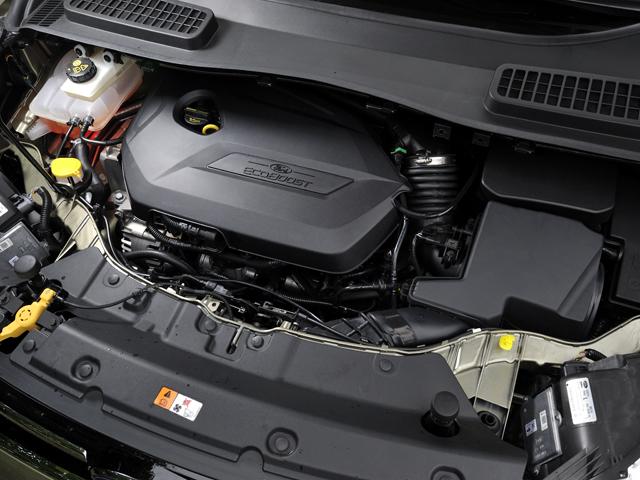 ディーゼルの技術を活用したダウンサイジングコンセプトの直噴ターボエンジン、エコブースト(EcoBoost)を搭載する