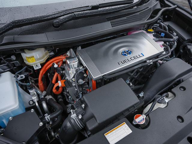 ▲CO2を排出しない優れた環境性能と3分程度の水素の充填でJC08モード航続距離650kmを達成している