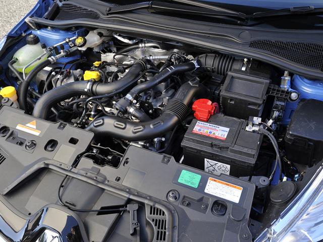▲最大トルクの90%を1650回転までに発生させ、街中などで扱いやすいコンパクトな3気筒エンジン
