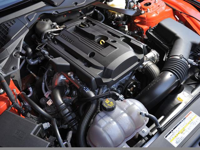 ▲ダウンサイジングコンセプトのEcoBoostエンジンを搭載。4つのドライブモードが選択できる