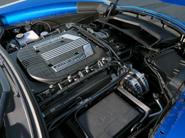 ▲高回転特性をもつイートン社製スーパーチャージャーを採用。気筒休止システムなども備える