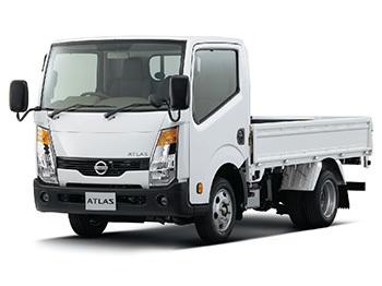 アトラスF24 標準ボディ、フルスーパーロー、扁平ダブルタイヤ、最大積載量1.5トン、ディーゼル木製荷台