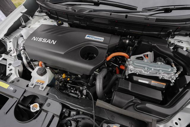 ▲インテリジェンス デュアル クラッチ コントロールと呼ばれる日産独自の1モーター2クラッチシステムは、エンジンとモーターを切り離す仕組み。これにより優れた燃費性能を獲得している