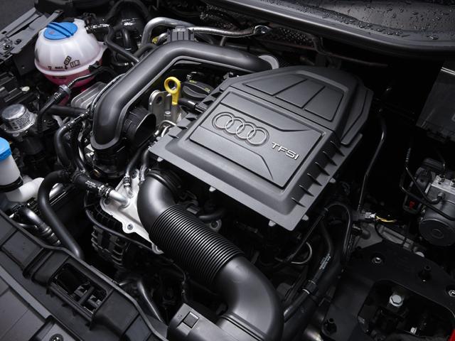 ▲アウディ初の3気筒エンジンを搭載、JC08モード燃費はブランド過去最高の22.9km/Lを達成