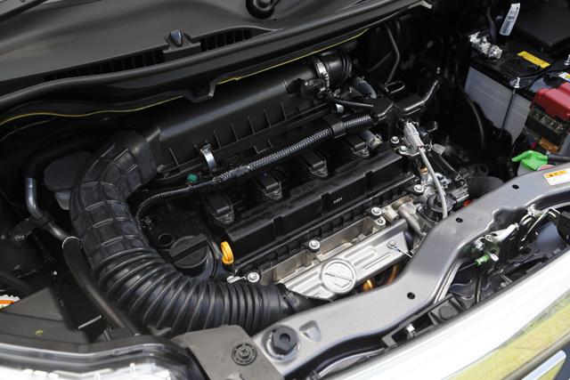 ▲搭載するのはデュアルジェットエンジンの改良型で、ISG(モーター機能付発電機)と専用リチウムイオンバッテリーを採用した