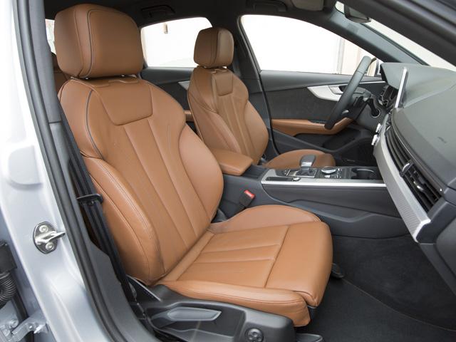 ▲シートも新設計。フロントシートはヘッドレストの高さだけでなく前後方向も調整可能に。オプションも豊富