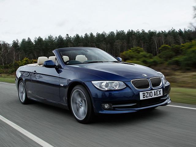 ▲スポーティさとゴージャスさのバランスがちょうど良い、開放感たっぷりの4シーター・オープンモデル、BMW 3シリーズ カブリオレ(3代目)。日本では2007年から2014年まで販売されました