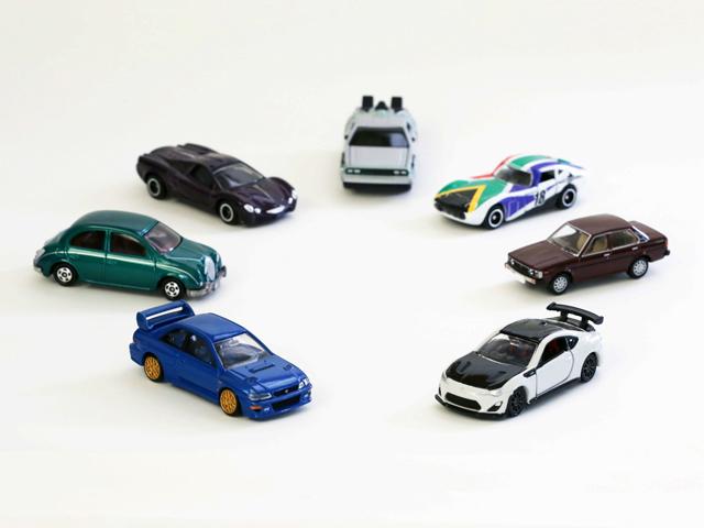 ▲現在までに6億台以上が販売されているトミカ。1970年にブルーバードSSSクーペ、コロナマークⅡハードトップ、トヨタ 2000GTなど6車種が最初に販売されました