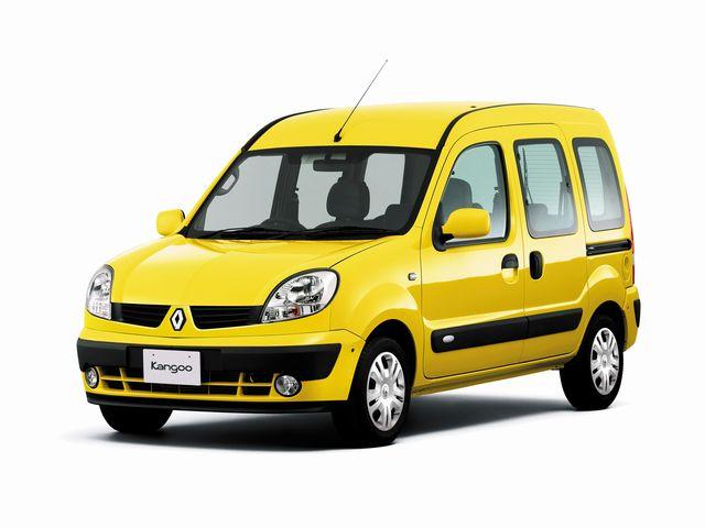 ▲旧型ルノー カングーは、02年3月から09年8月まで販売された5人乗りフルゴネット乗用車。本国フランスでは商用車としても使われるが、日本では「可愛くて使える乗用車」としてプチブレイク