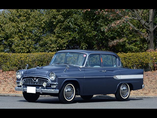 ▲初代トヨペット・クラウン。まだ自動車の耐久性などたかがしれていた時代に、ロンドンから東京までの約5万kmを走破するパフォーマンスを見せるなど最高級車にふさわしい性能を誇りました