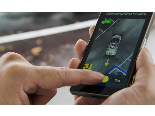 ▲スマートフォンを利用した技術も(日産自動車)