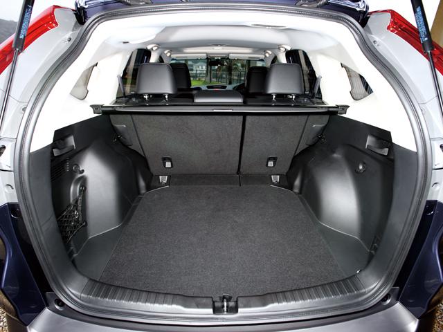 ▲大きな荷室も魅力の一つ。ちなみに、2名乗車時なら1146Lの大容量を確保できます
