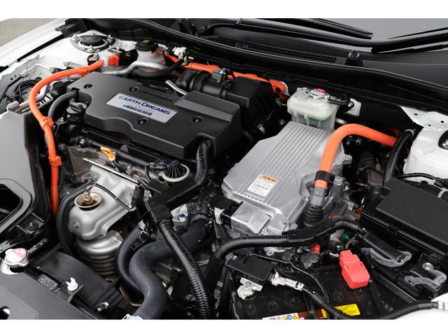 ▲「SPORT HYBRID i-MMD」。世界最高レベルの効率で、優れた低燃費を達成している