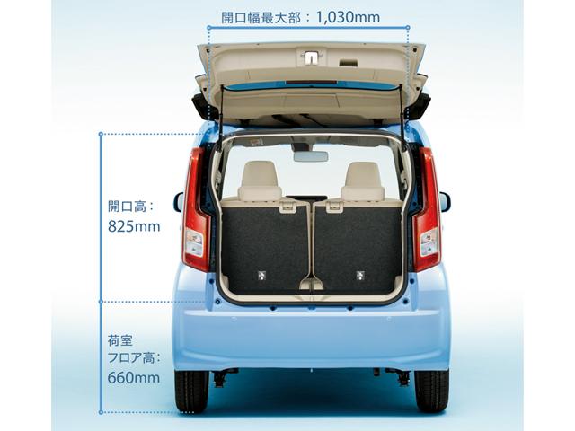 ▲ユーザーからの要望が強かったという荷室に関しては、クラストップとなる荷室長575mm(荷室最大時)を確保しています