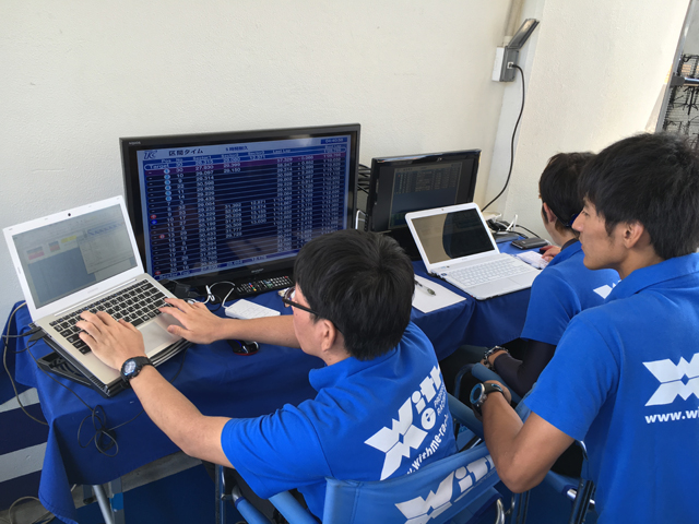 ▲ウィズミーチームのスタッフには、ボランティアで参加したメンバーも。ピットの設営&撤収といったレース以外の仕事も、全員で手分けしてこなすチーム運営が参加していて気持ちよかった