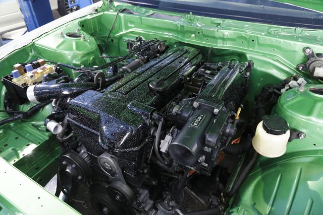▲オリジナルのSRエンジンは輸出の影響で品薄になり値段が高騰。どうすれば若者が車を楽しめるか試行錯誤した結果、スープラの直6を搭載することにしたそうです