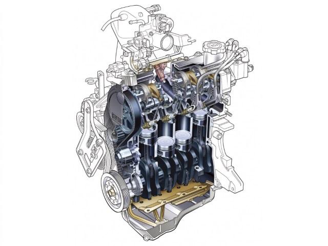 ▲コストの兼ね合いもあってか絶滅してしまった軽の4気筒エンジン(画像はスバル・EN07型エンジン)