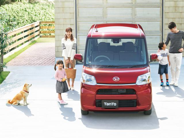 ▲ダイハツ工業の人気軽トールワゴン「タント」。子育てファミリーをターゲットに売り出していますが、若者世代にも人気を得ているようです