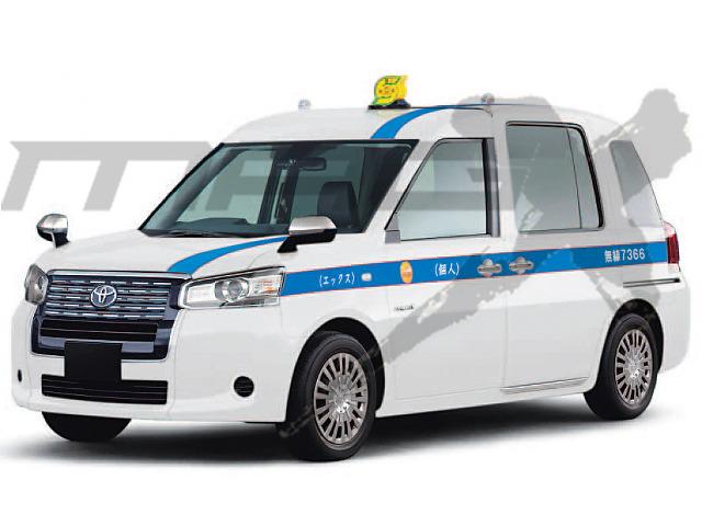 ▲JPNタクシーは、法人だけでなく、個人事業者にも売り込まれるだろう。個人タクシーならではの白ボディと青ストライプの姿を、いち早く予想してみた