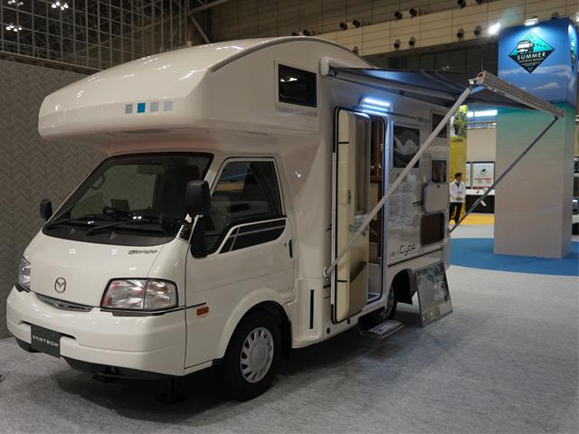 ▲マツダ ボンゴトラックがベースのキャンピングカー(VANTECH製)