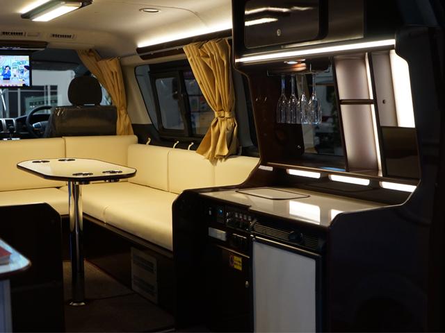 ▲キッチン設備を備えたモデル。高級感もありワンランク上の旅が楽しめそうだ
