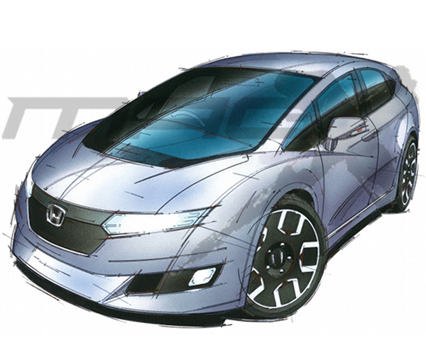 ▲2年以上も前にスクープしたインサイト後継車。当時は専用プラットフォームに1.5Lエンジンのハイブリッドが搭載され、レンジエクステンダーも用意される予定だった
