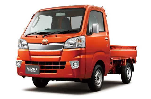 ▲押し出し感を高めたデザインに豊富なボディカラー。ハイゼットトラックは軽自動車の常識を覆したモデルです