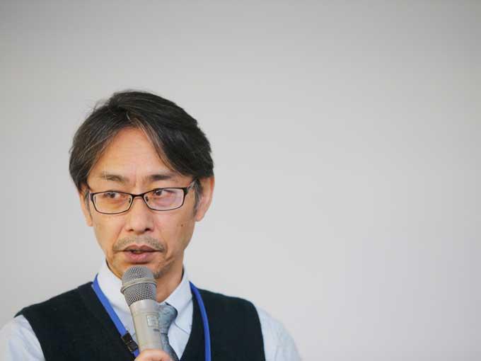 ▲『i-ACTIVSENSE』技術説明に登壇したのは、統合制御システム開発本部 上席研究員の大村氏