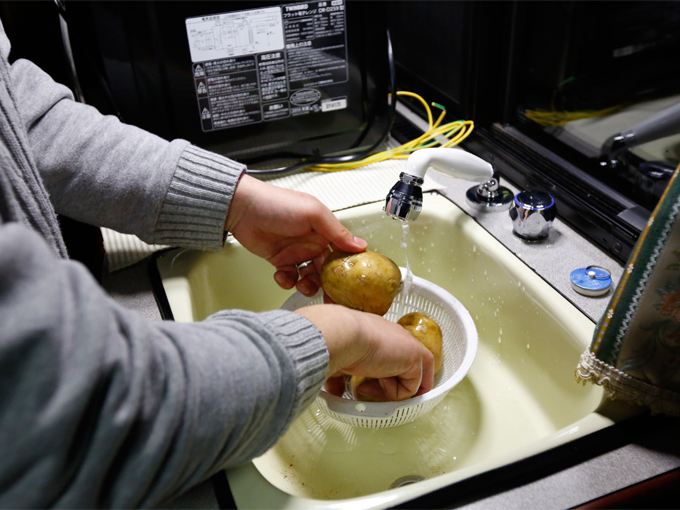 ▲こちらはクレソンのシンク。奥に見える電子レンジも、もちろん使用可能で調理の幅も広がります
