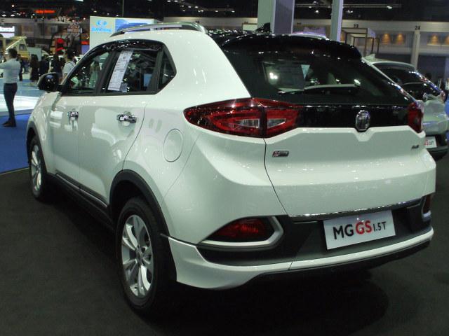 ▲中国上海汽車グループのMGブランドは、コンパクトSUV、GSを展示。タイに生産工場を構えており、ここから世界各国へと輸出されている。もとは英国ブランドということもあり、中国車であることをカモフラージュしているのだ。1.5Lと2Lのターボを用意