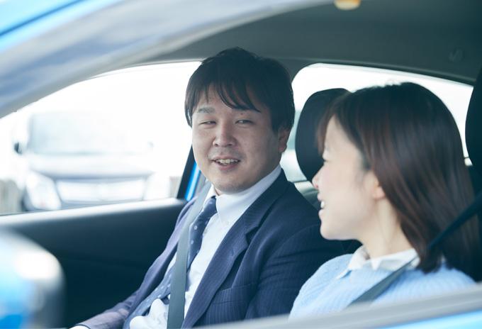 ▲優しい笑顔の竹中さん。撮影日は助手席に彼女も同乗してくださった