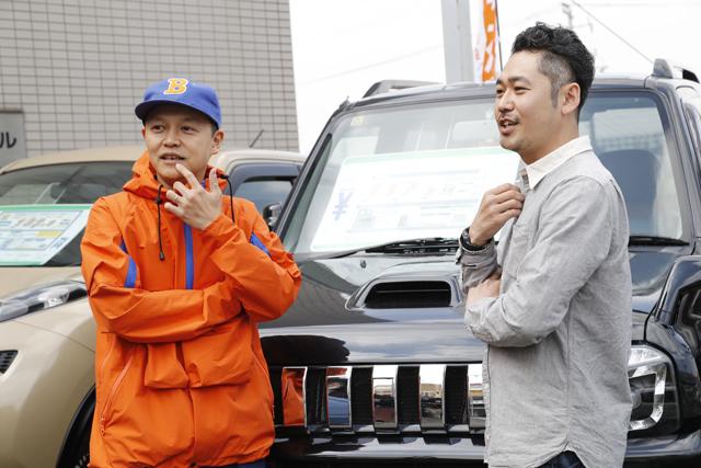 ▲オートモーティブジャパンの米倉さん自身が好きなちょっと古めのモデルをお洒落に仕上げています。「若い子たちにもっと車で遊んでほしいんですよ」(米倉さん)