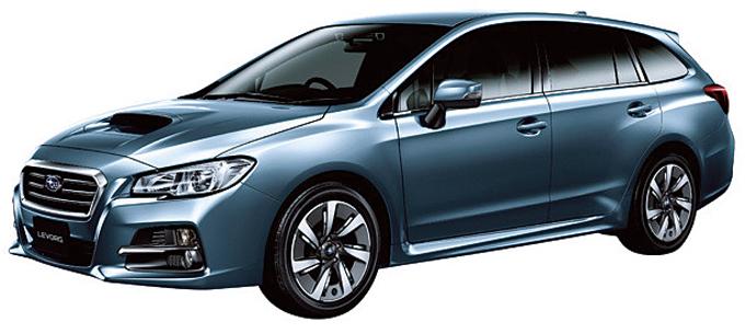▲2014年6月デビューのレヴォーグ。インプレッサスポーツの上位モデルで、車体はレヴォーグの方が若干大きい