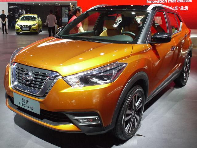 ▲日産のエントリーSUVとして、中南米各国で発売されているキックスが、中国市場に投入された。展示車にはすでに、東風日産のバッジが。日産のラインナップで手薄となっているカテゴリーがこれで強化されることになりそうだ