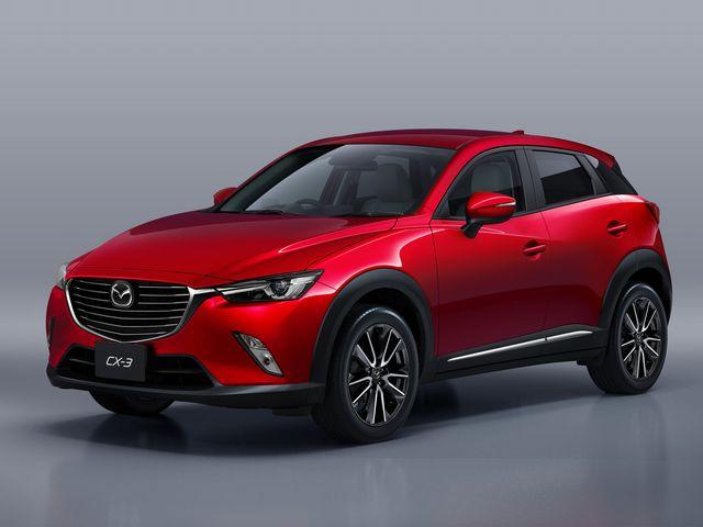 ▲15年2月から販売中のコンパクト・クロスオーバー、マツダ CX-3。昨年10月にマイナーチェンジが実施されたが、それ以前のモデルであれば中古車は170万~250万円付近で探すことができる