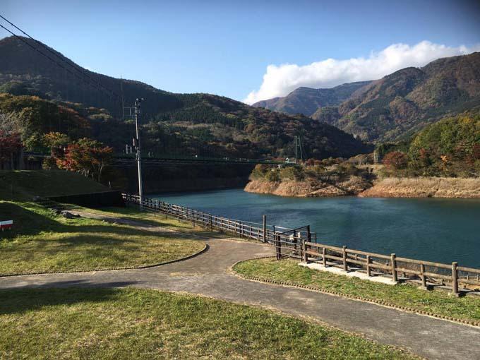 ▲納車されて約1週間後には、友人と栃木県のもみじ谷大吊橋へ旅行に訪れた