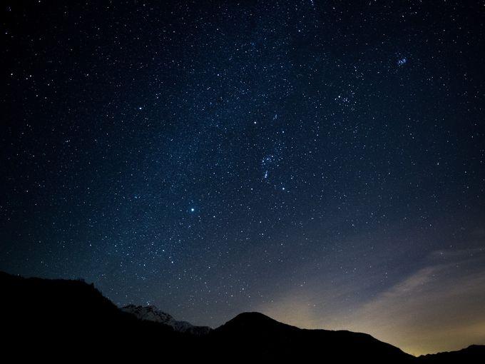 ▲正直UFOは出ないと思ってるけど、「夏に冬用ウエア着て星を眺める」ってのは素敵な気がする