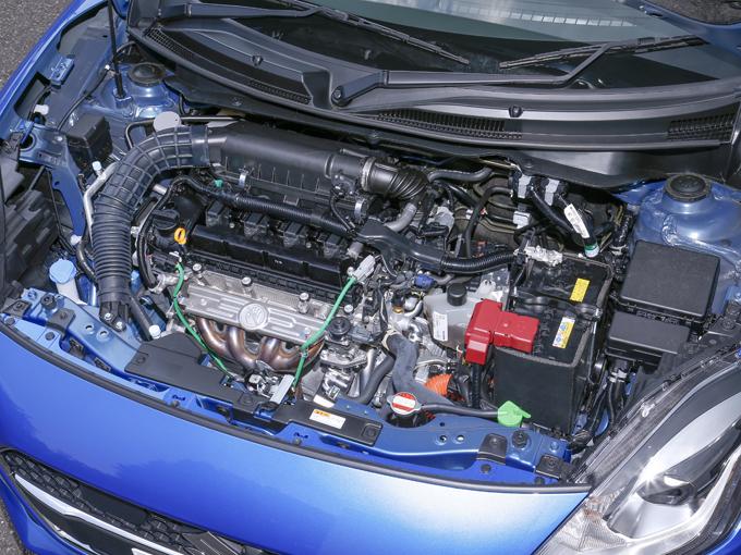 ▲K12Cデュアルジェットエンジンに、発電も可能な駆動用モーター(MGU)と伝達効率に優れたトランスミッションであるオートギアシフト(AGS)を組み合わせている