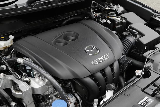 ▲今回のガソリンエンジン車は、JC08モードに比べ、冷機状態での走行時間割合の増加、アイドリング時間比率の減少、運転者以外の乗員や積載物の重量考慮などにより、実際の使用実態を意識した測定方式になっている「WLTCモード」の認可を取得している