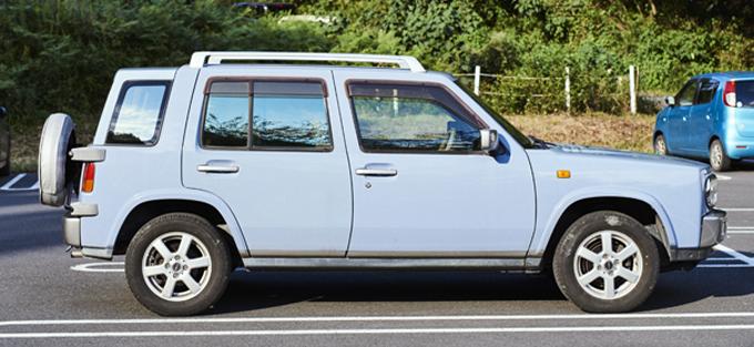 ▲日産サニーをベースにRV風のワゴンタイプのボディを載せている