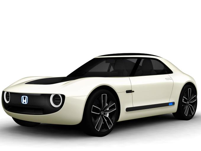 ▲ホンダは量産EVの予告編として、アーバンEVコンセプトをフランクフルトモーターショーでアンベール。東京モーターショーには、スポーツEVコンセプトを発表した