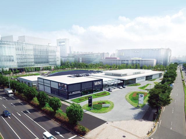 ▲BMW GROUP Tokyo Bayは、お台場にあるBMW / MINIショールーム。カフェスペースや各種サービスの受付カウンターなども併設しています