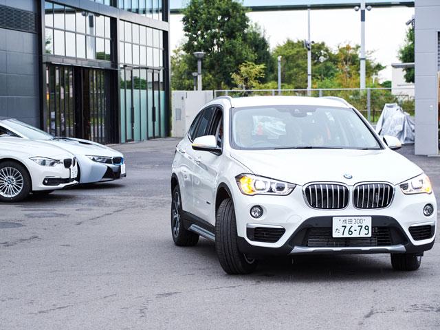 ▲人気のSAV(スポーツ・アクティビティ・ビークル)X1にも試乗。運転席の視点が高いので、女性も運転がしやすい車です