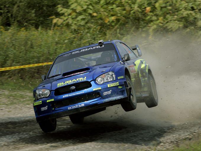 ▲モータースポーツの世界でも活躍するEJ20。写真は2004年のラリージャパンにおけるSUBARU Impreza WRC 2004