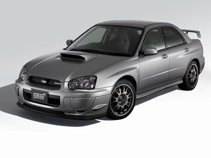 ▲2代目インプレッサWRX STIを、STI(スバルテクニカインターナショナル)がチューニングしたコンプリートカー、インプレッサ S203。そのEJ20エンジンは最高出力320ps/6400rpm、最大トルク43.0kgm/4400rpmを発生。新車時価格は460万9500円で、555台の限定販売だった