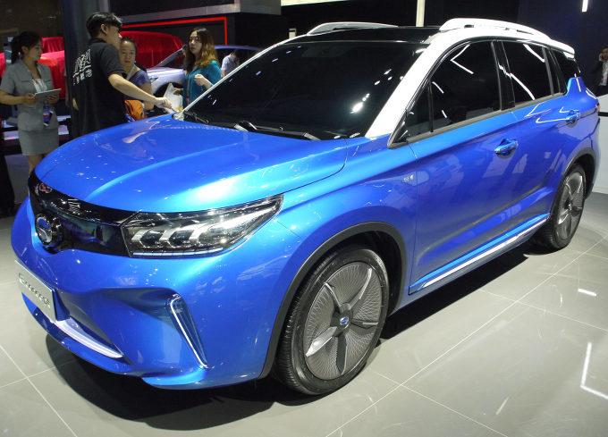▲広州トヨタは、広州汽車をパートナーとするトヨタ系の合弁会社。その広汽トヨタブランドのEVがこのeコンセプト。見た目は広州汽車のオリジナルモデルのSUV「GS4」がベースのようだ。広州汽車独自開発によるEVのようで、将来的にOEM供給の可能性も高い