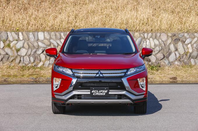 ▲こちらが、2018年3月に発売を予定している新型コンパクトSUV「エクリプス クロス」