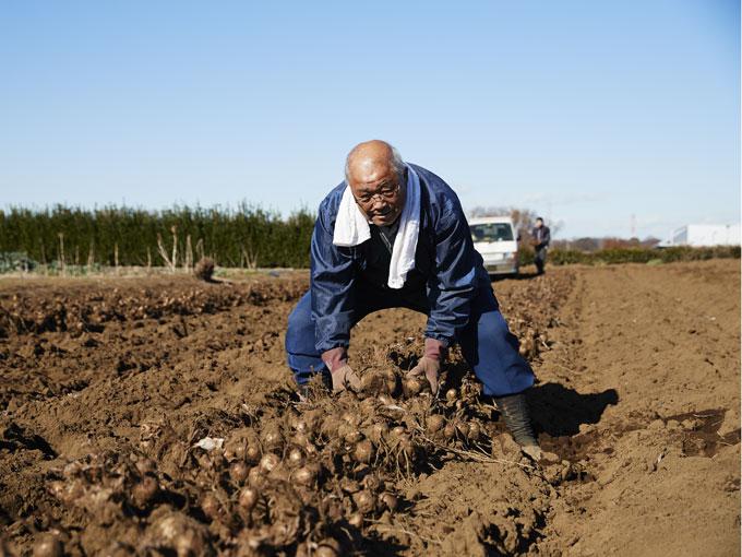 ▲まだまだ元気いっぱいな森田さん。これからも新鮮な野菜を届けてくれることだろう